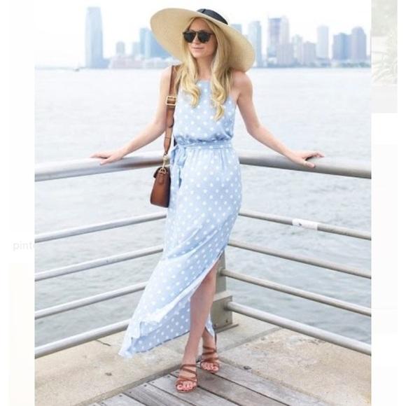 Ann Taylor Dresses Ann Taylor Polka Dot Sleeveless Maxi Dress